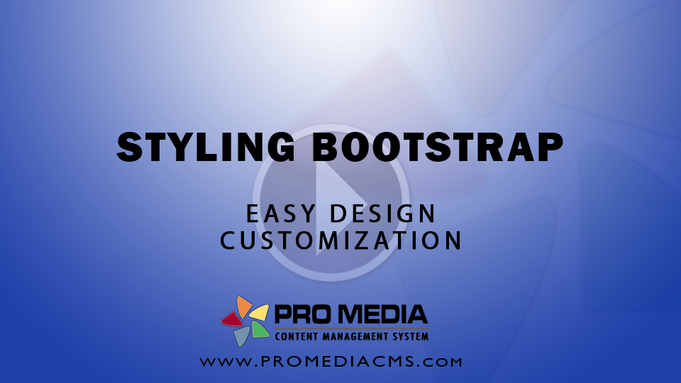 Styling Bootstrap - Video